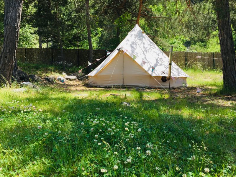 bell tent camping river